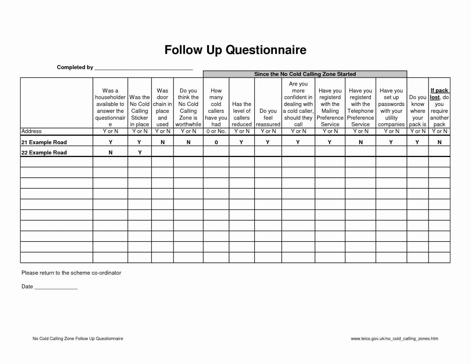 Excel Sales Call Tracking Template