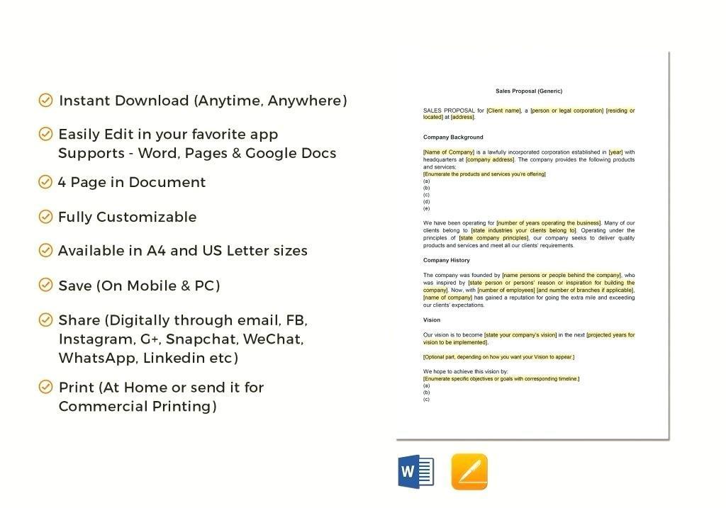 Excel Sales Proposal Template
