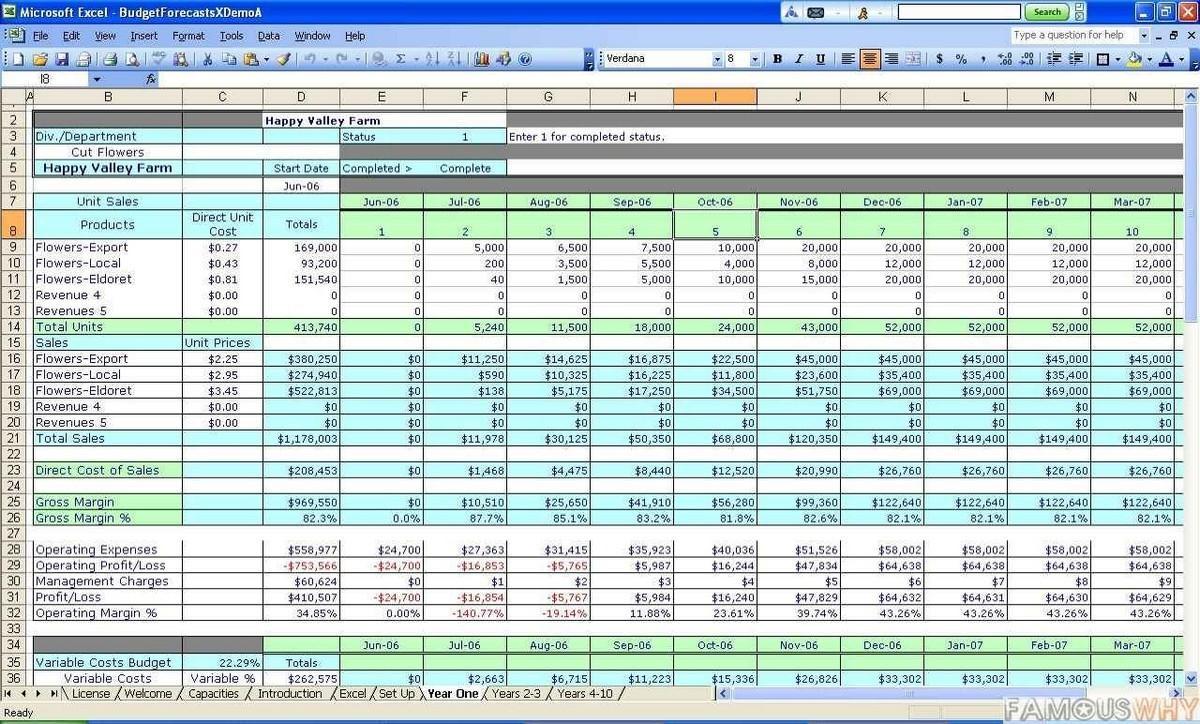 Excel Software Estimate Template