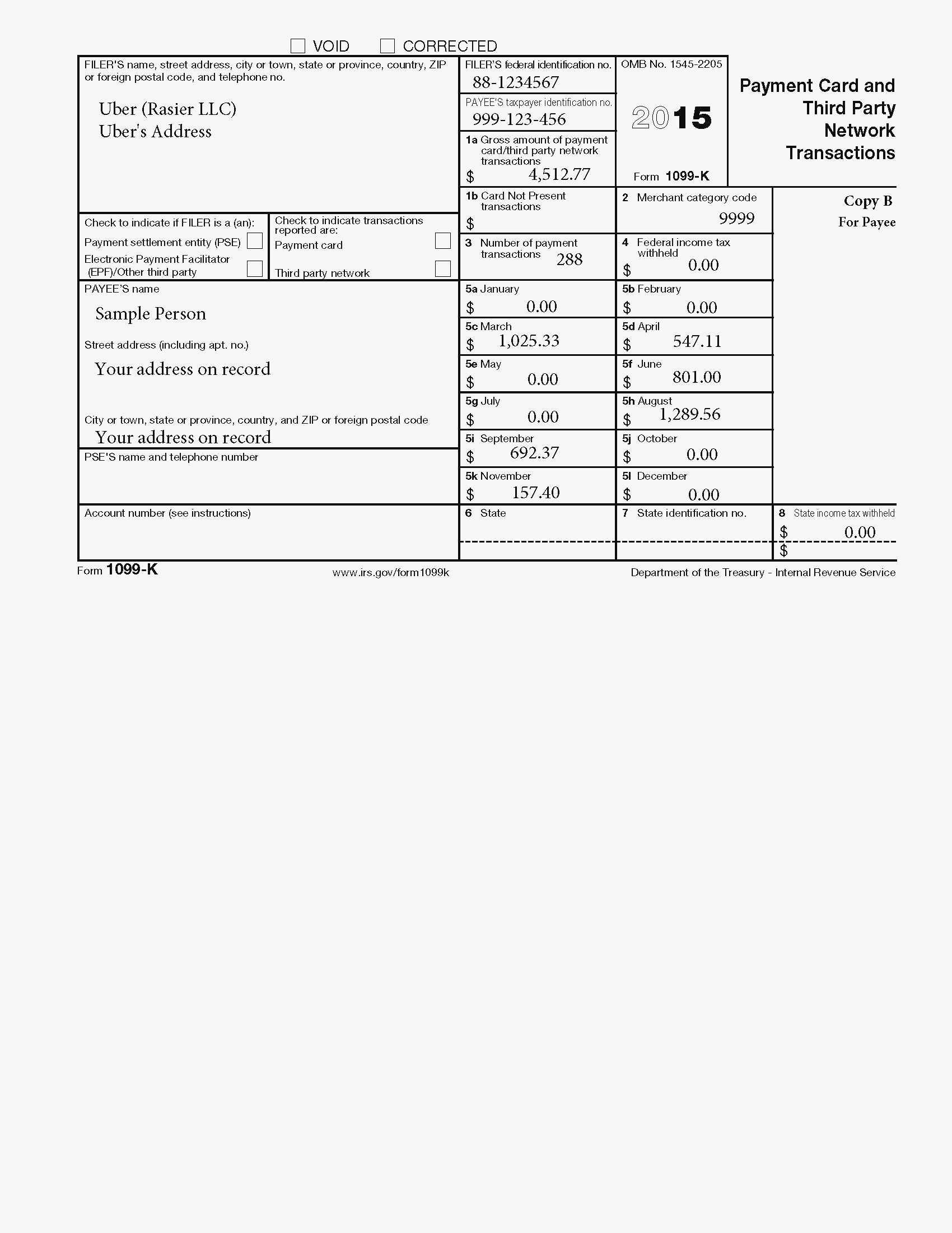 Excel Template For 1099 Misc