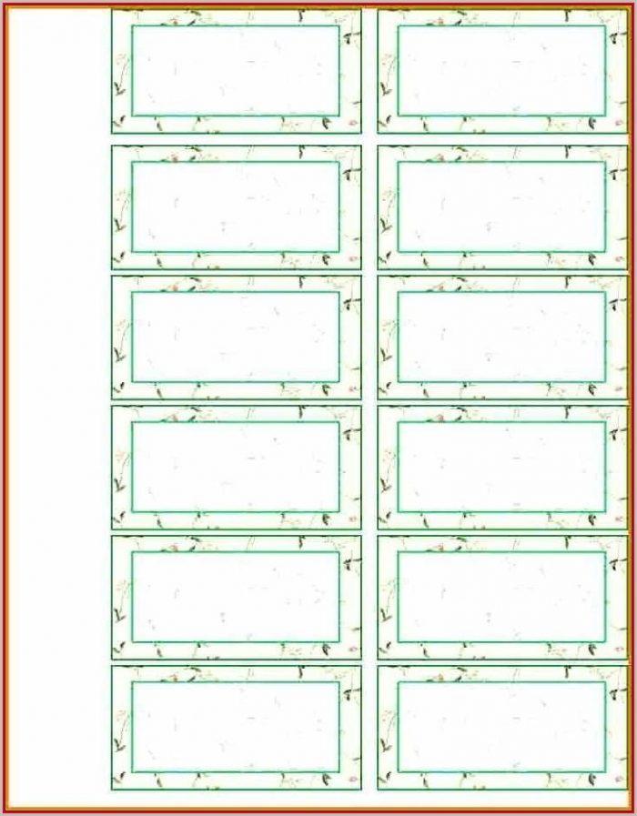 Excel Template For Hanging File Folder Tabs