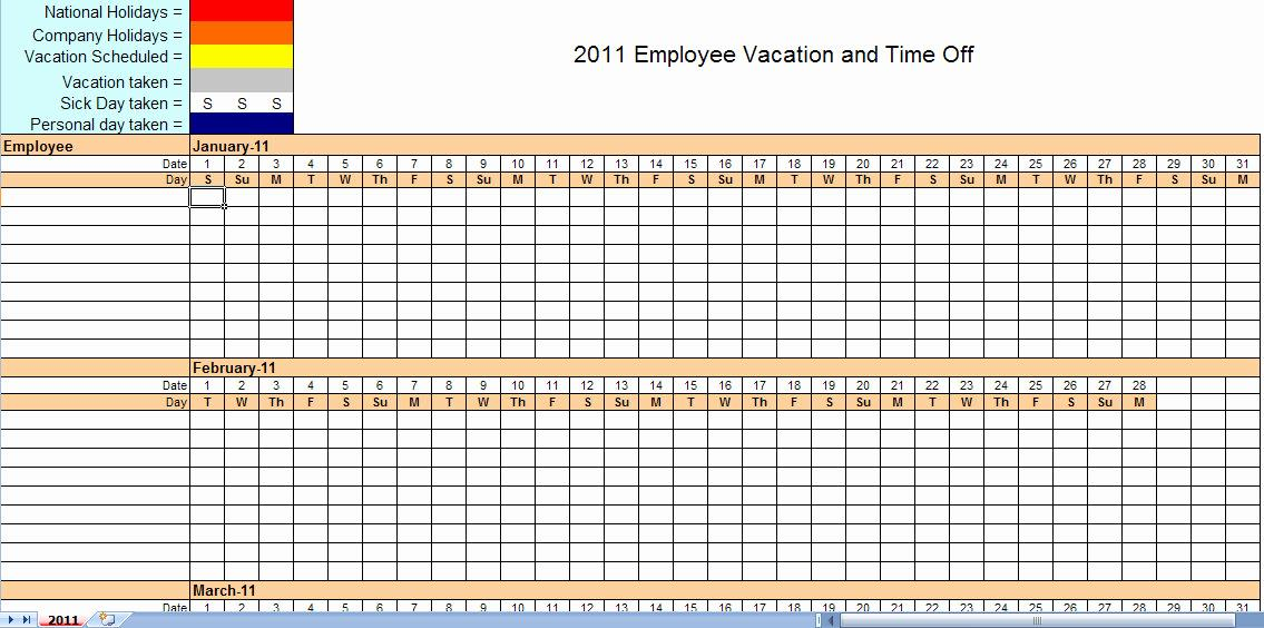Excel Templates For Monthly Scheduling