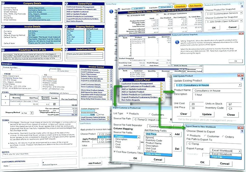 Excel Templates For Sales And Inventory