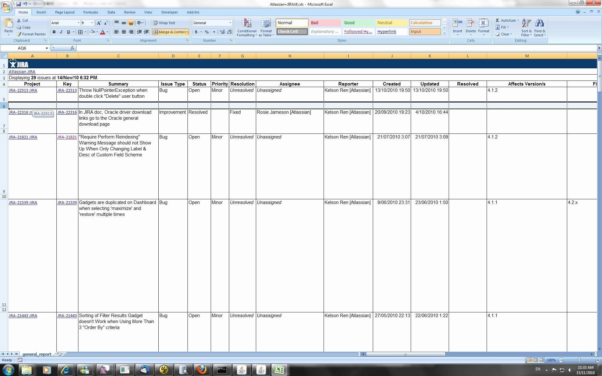 Excel Workflow Tracking Template