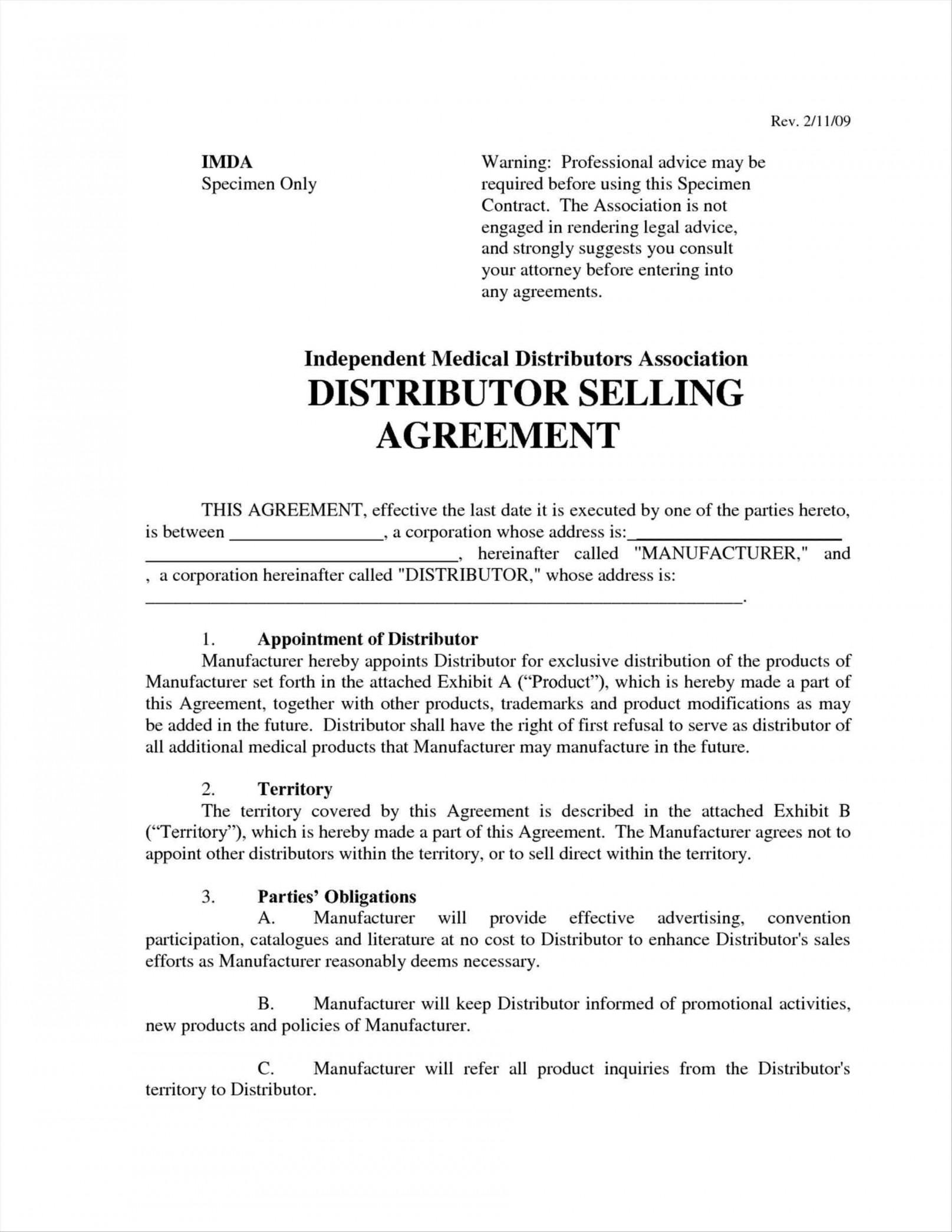 Exclusive Reseller Agreement Template