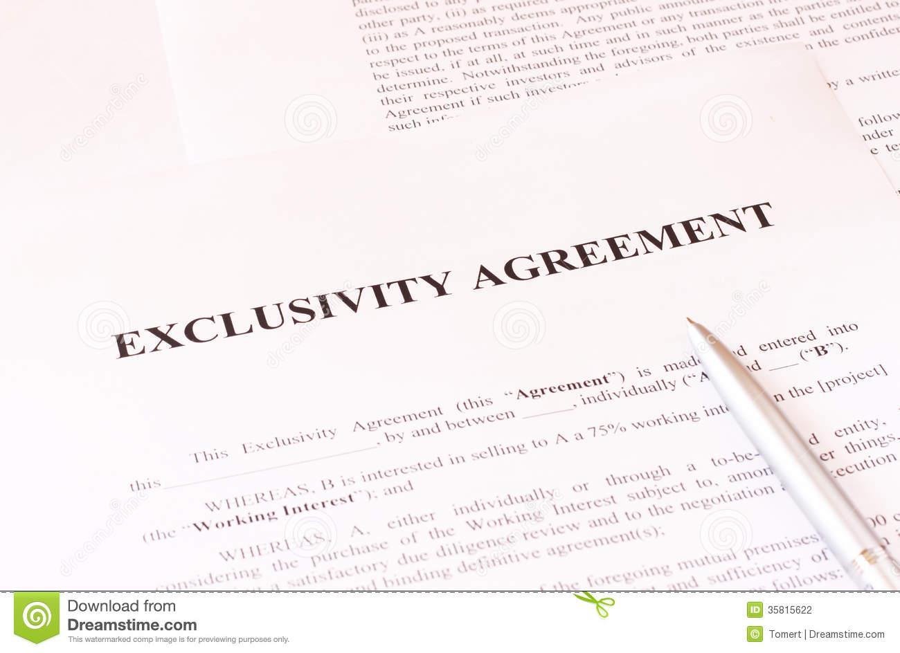 Exclusivity Agreement Form
