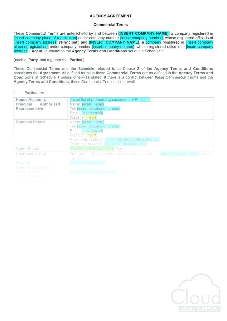 Exclusivity Sales Agreement Template
