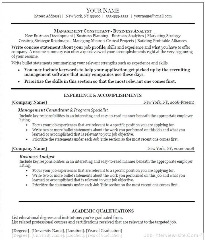 Executive Resume Template Microsoft Word