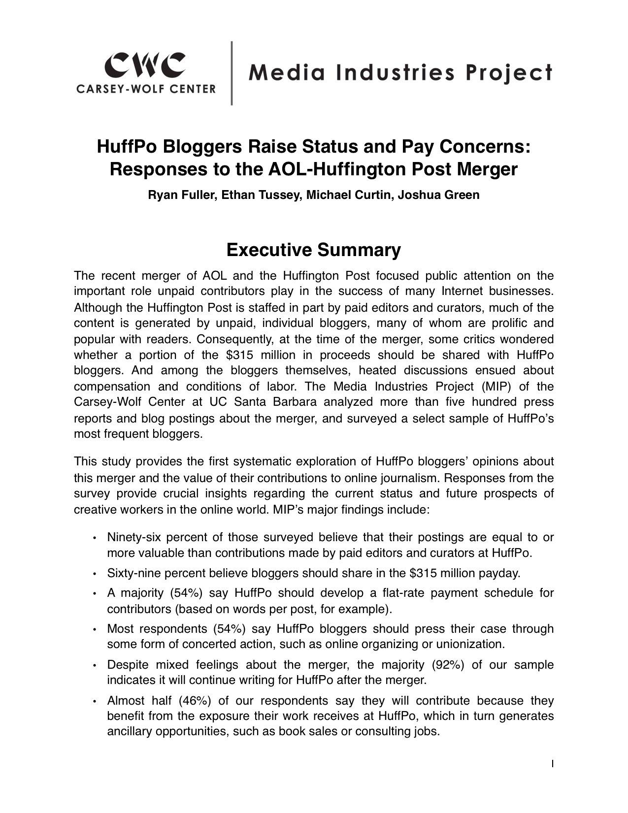 Executive Summary Apa Format 6th Edition Example