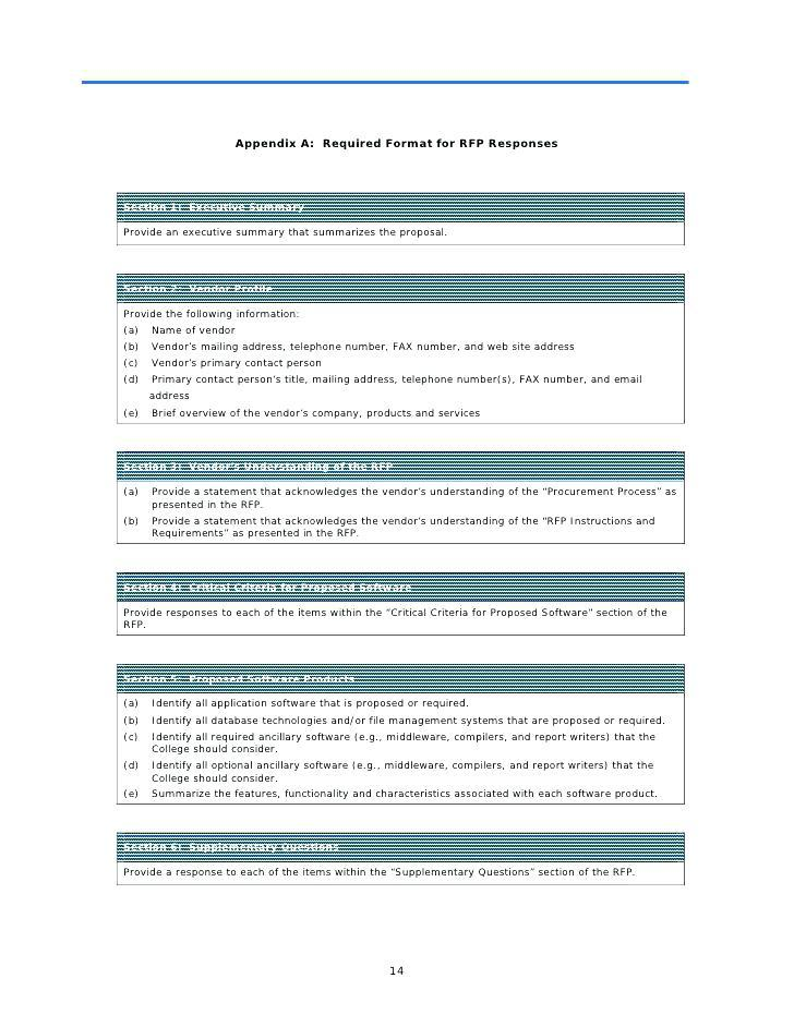 Executive Summary Template For Rfp