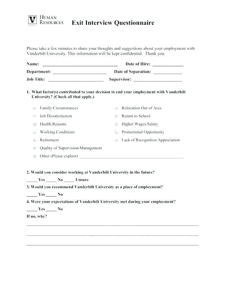 Exit Interview Template Form Nz