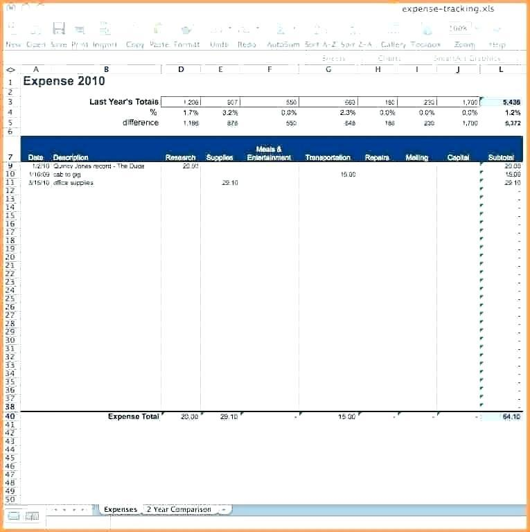 Expense Tracker Template Google Sheets