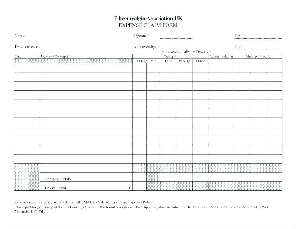 Expenses Claim Sheet Template