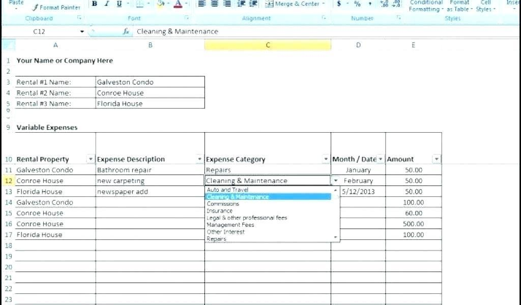 Expenses Sheet Template Excel