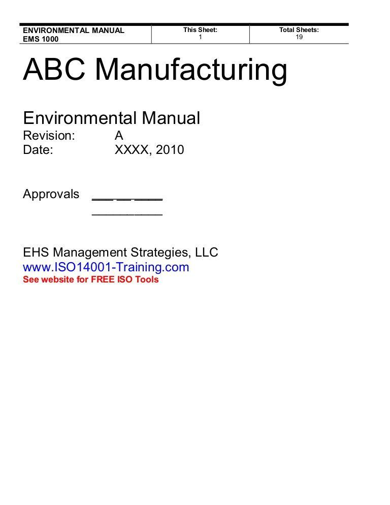 Export Compliance Manual Example
