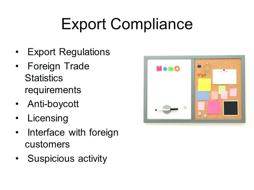Export Compliance Manual Sample