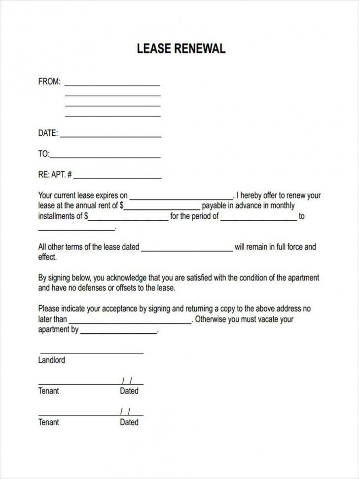 Extend Lease Agreement Form