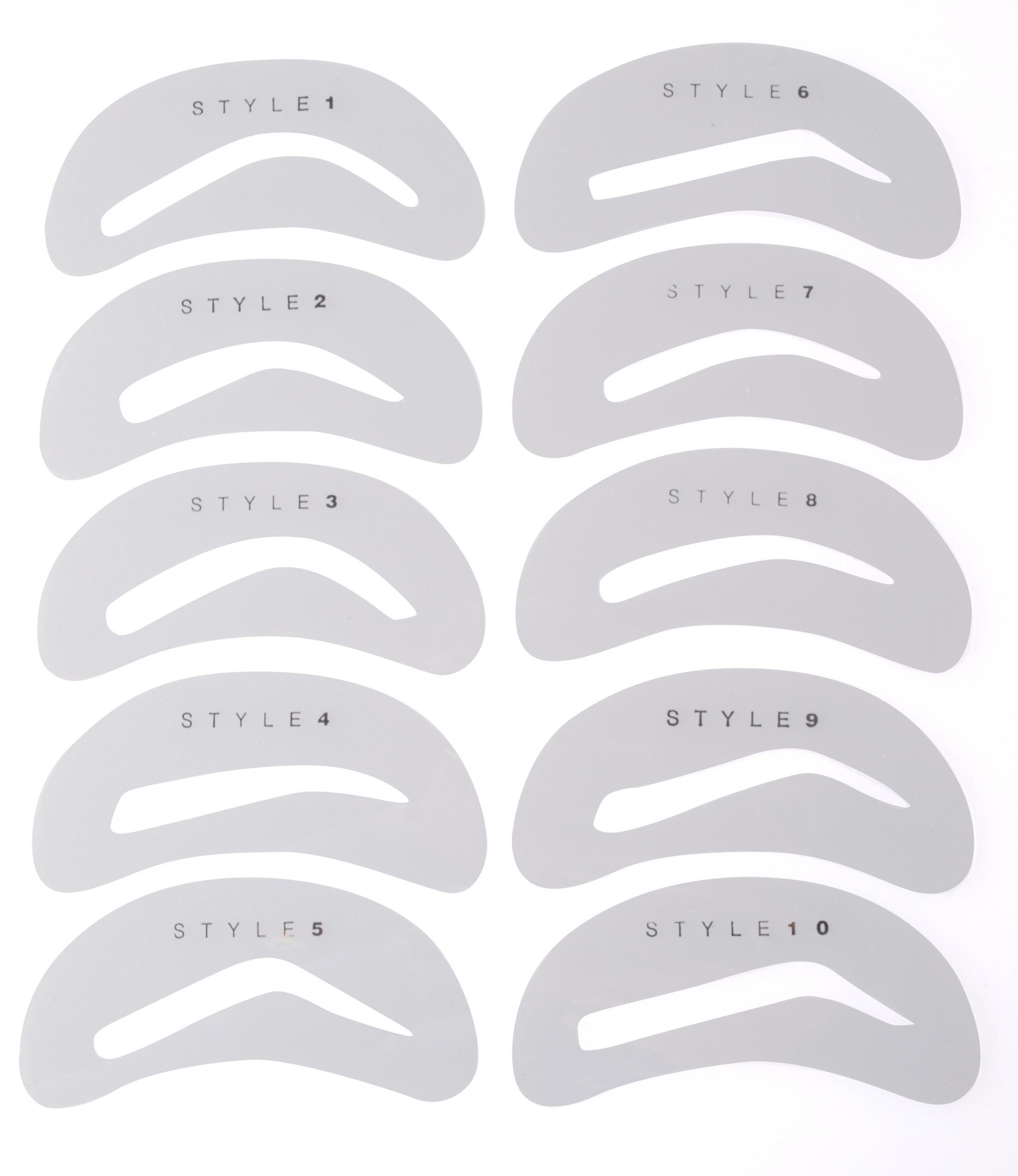 Eyebrow Template Stencil Print Out