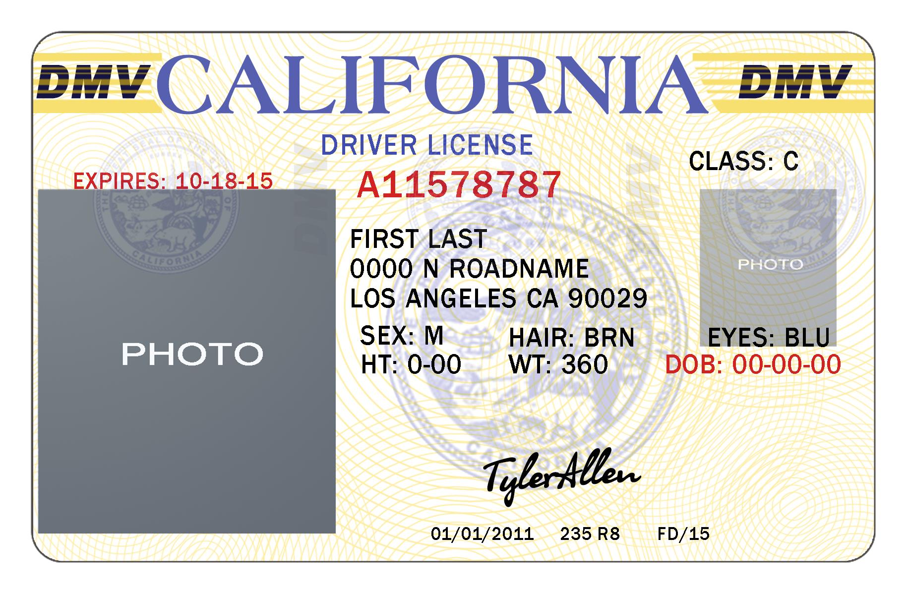 Fake Driver License Template