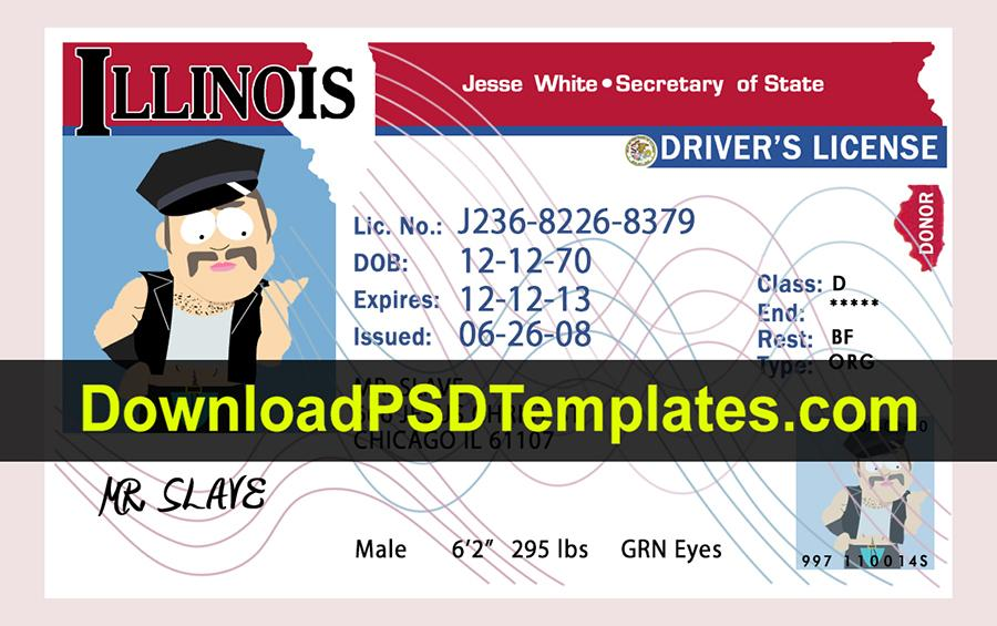 Fake Drivers License Template Psd