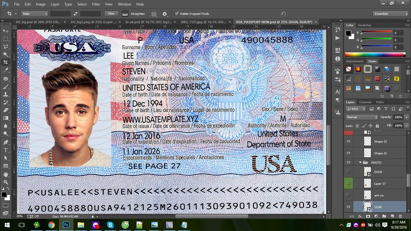Fake Driving License Template