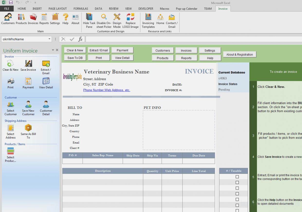 Fake Invoice Form