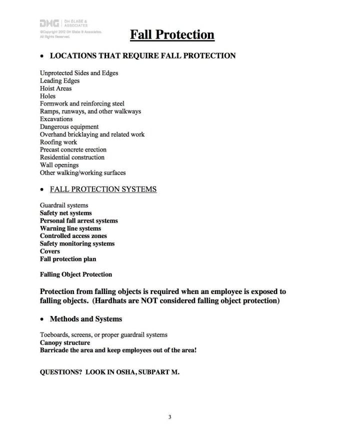 Fall Arrest Rescue Plan Template Ontario