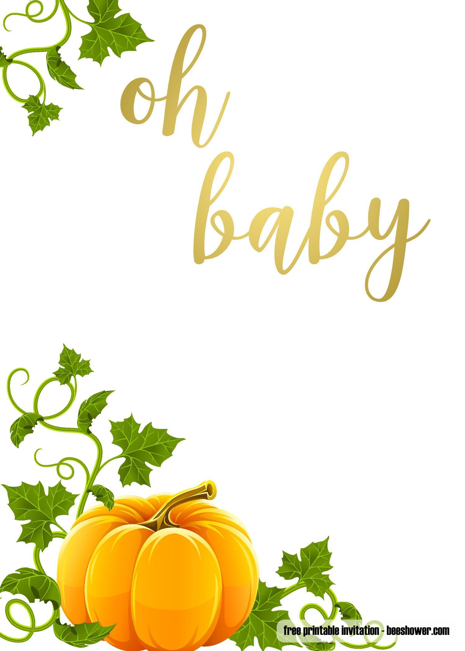 Fall Baby Shower Invitation Templates