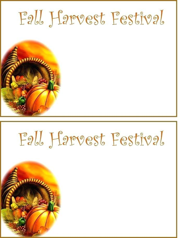 Fall Festival Invitation Templates