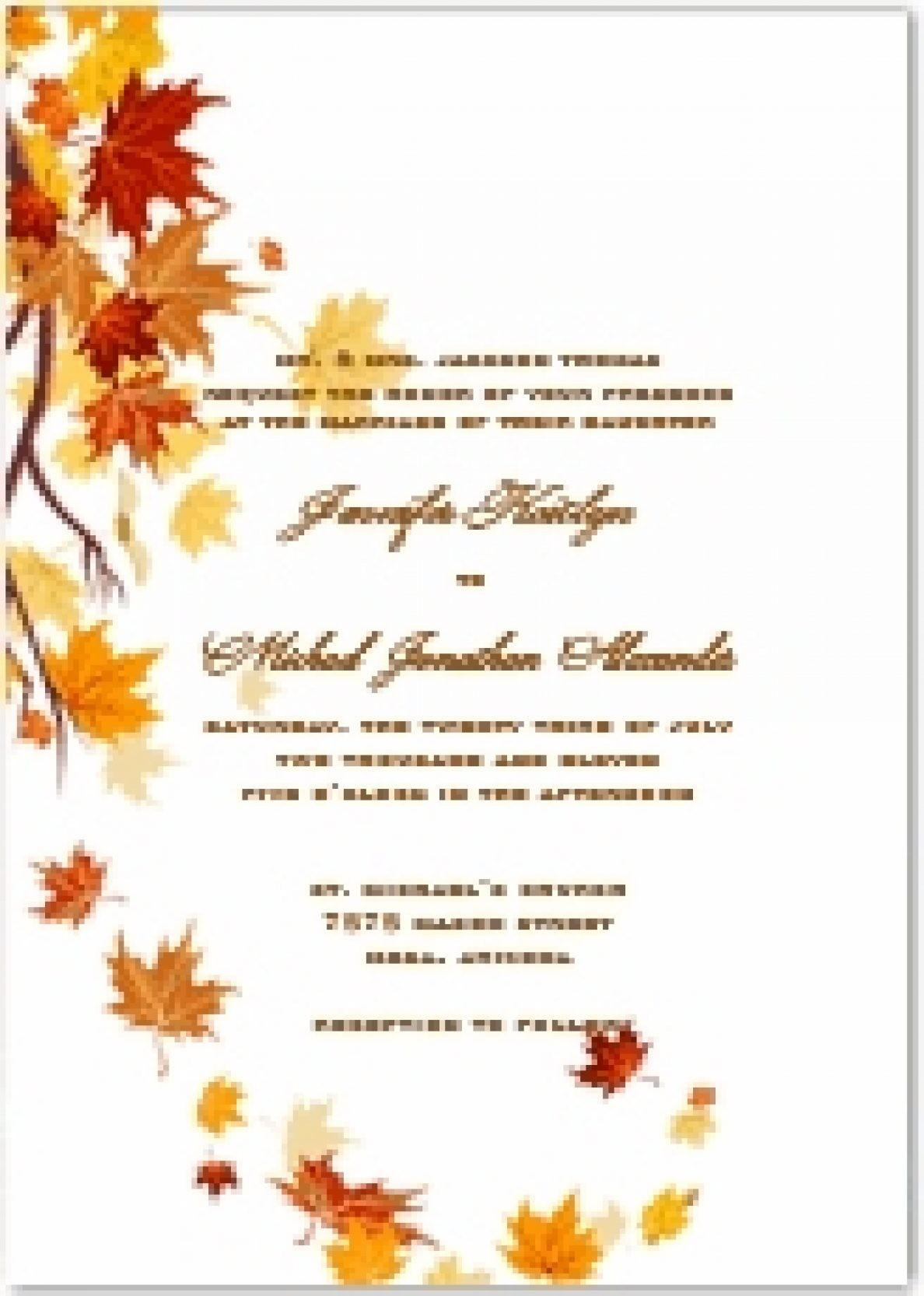 Fall Invitation Templates Free