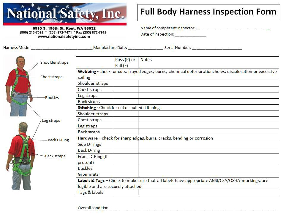 Fall Protection Plan Template Bc
