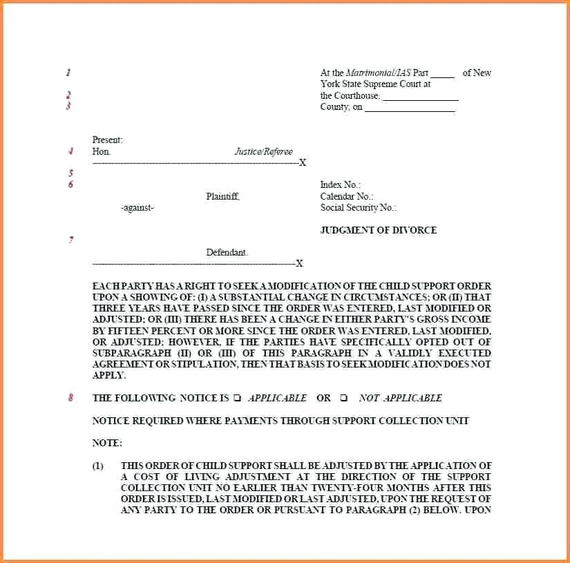 Family Court Motion Template
