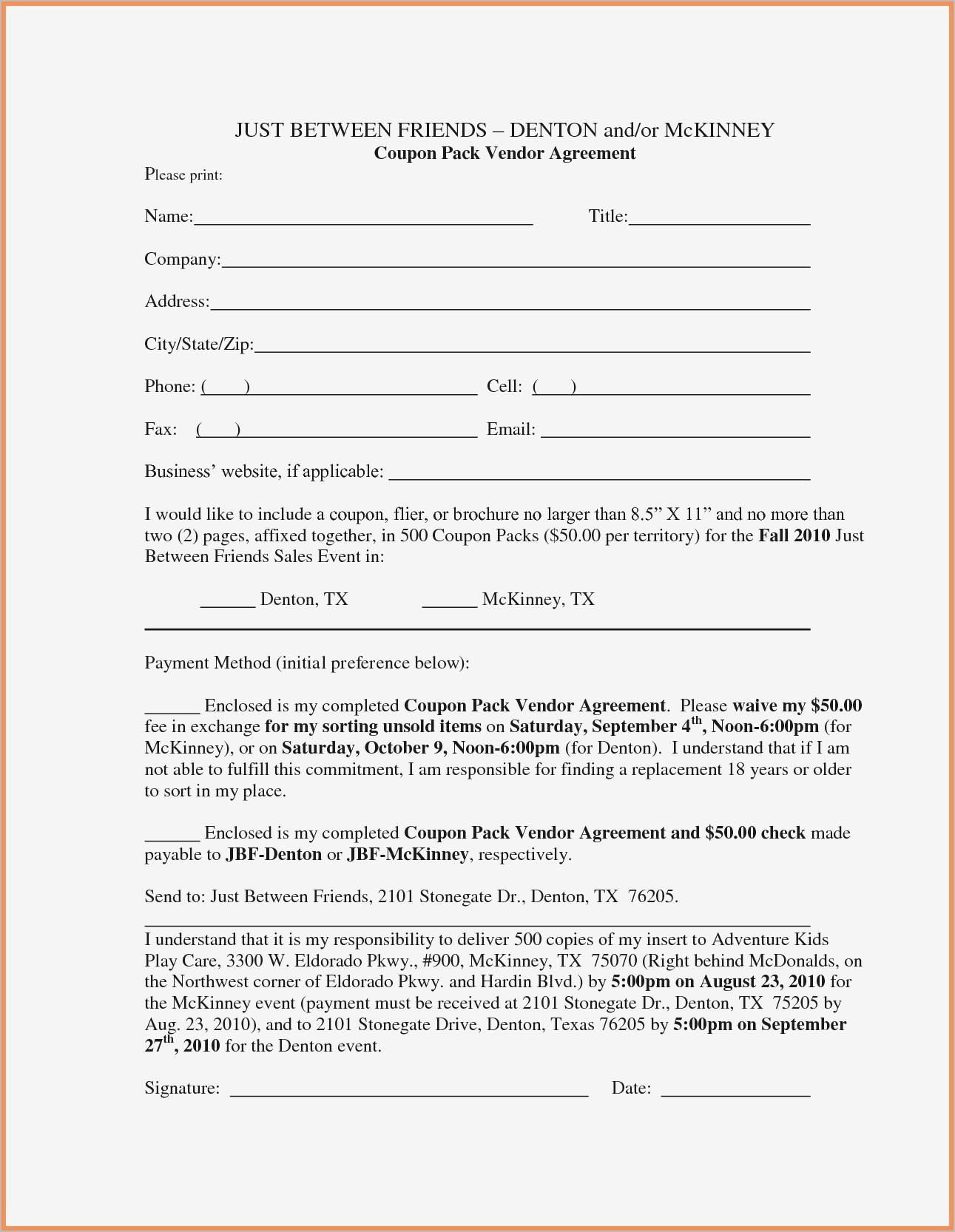 Family Friend Loan Agreement Template