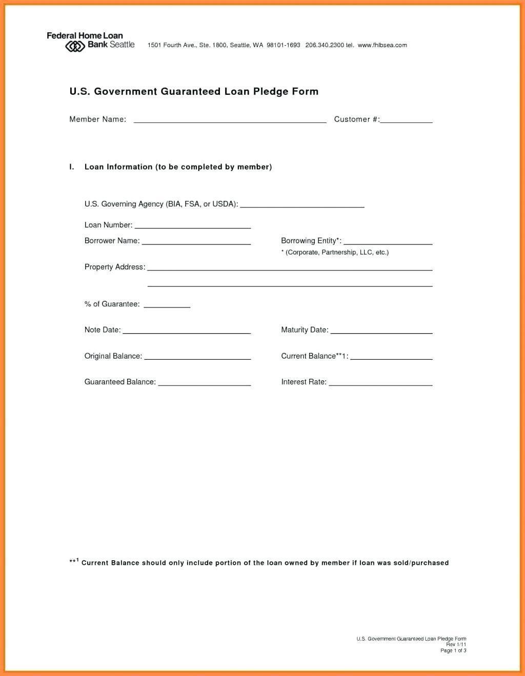 Family Loan Agreement Template Pdf Uk