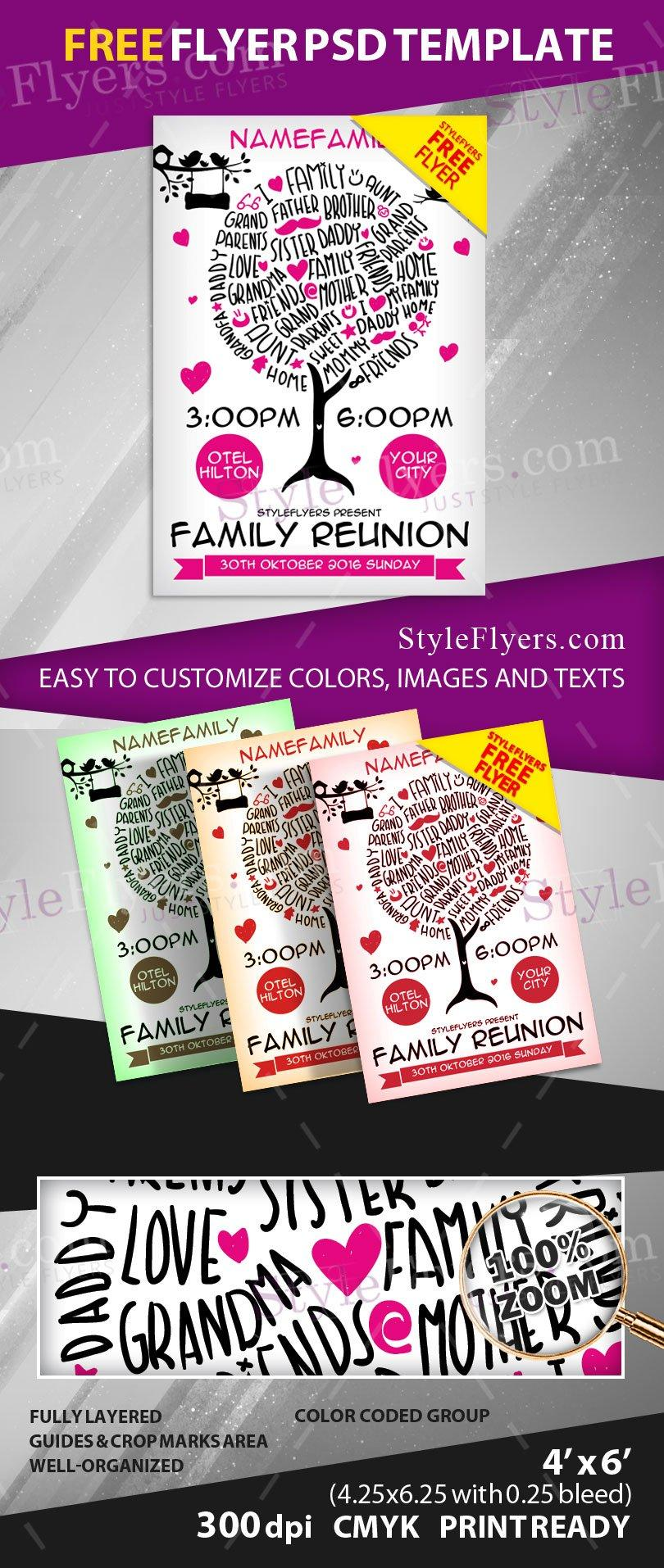 Family Reunion Flyer Template Free