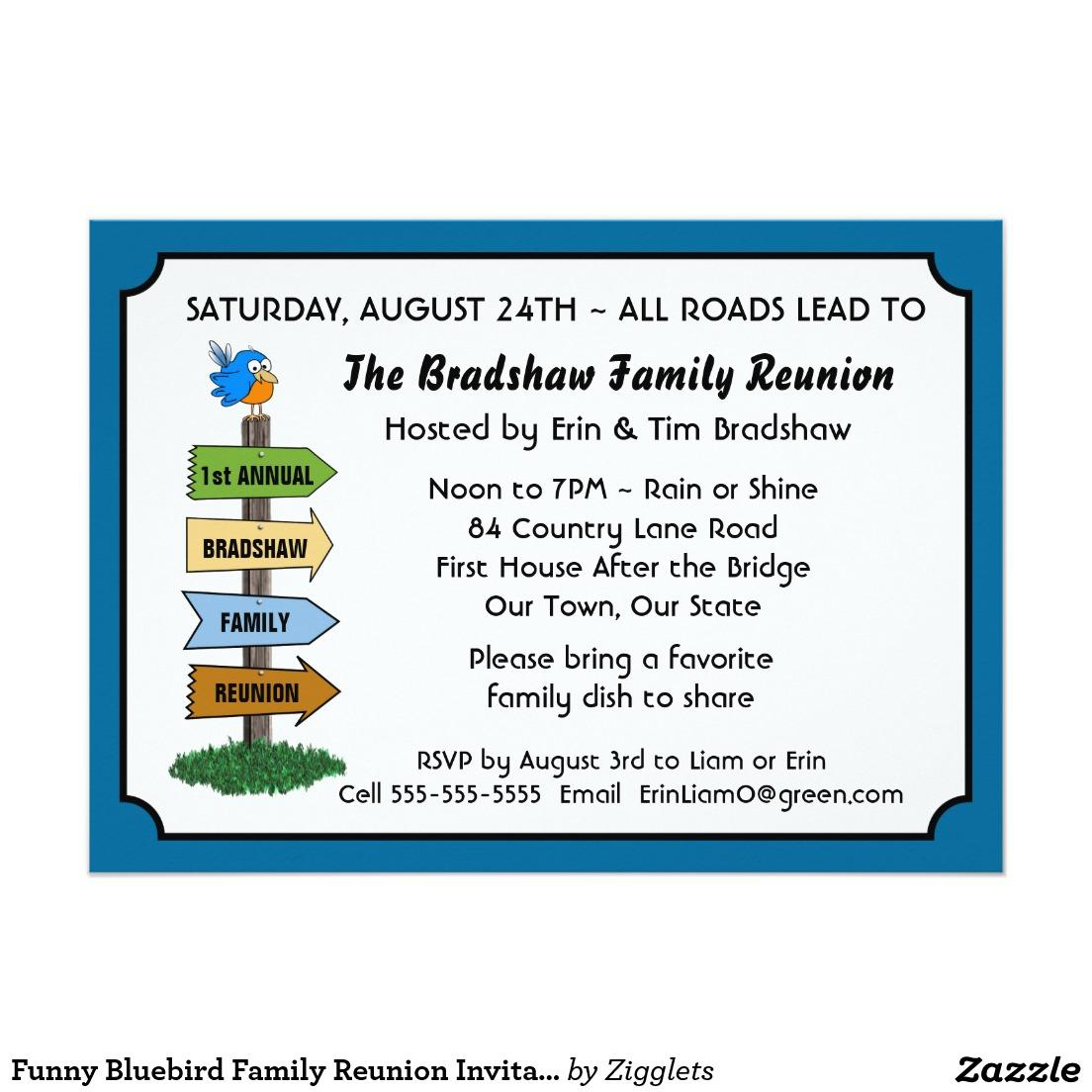 Family Reunion Invitation Templates