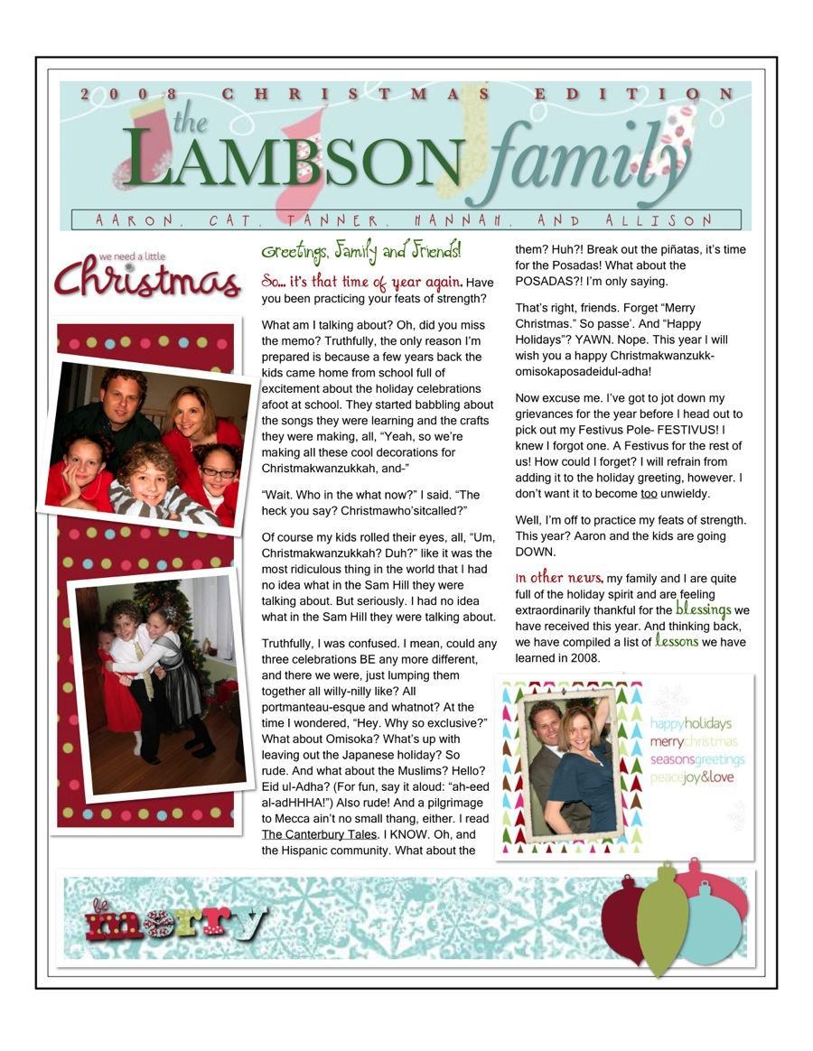 Family Reunion Newsletter Templates