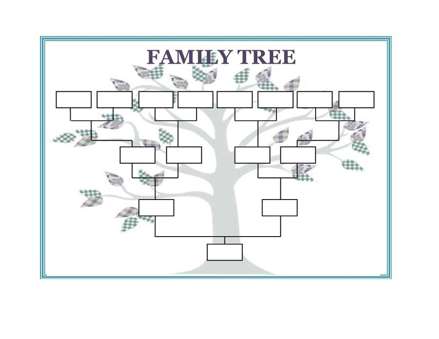 Family Tree Templates Editable Free