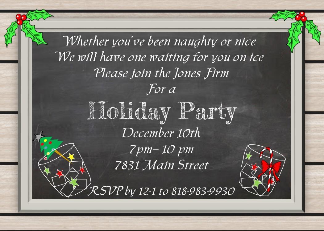 Fancy Christmas Invitation Template