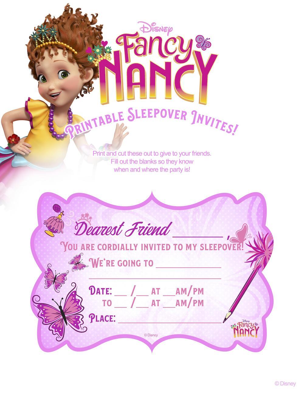 Fancy Nancy Invitation Template