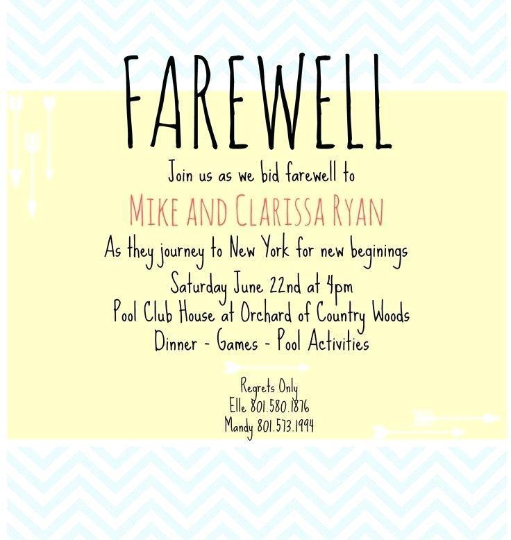 Farewell Invite Template