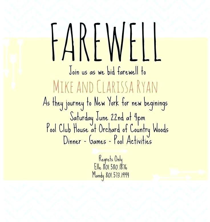 Farewell Lunch Invitation Template