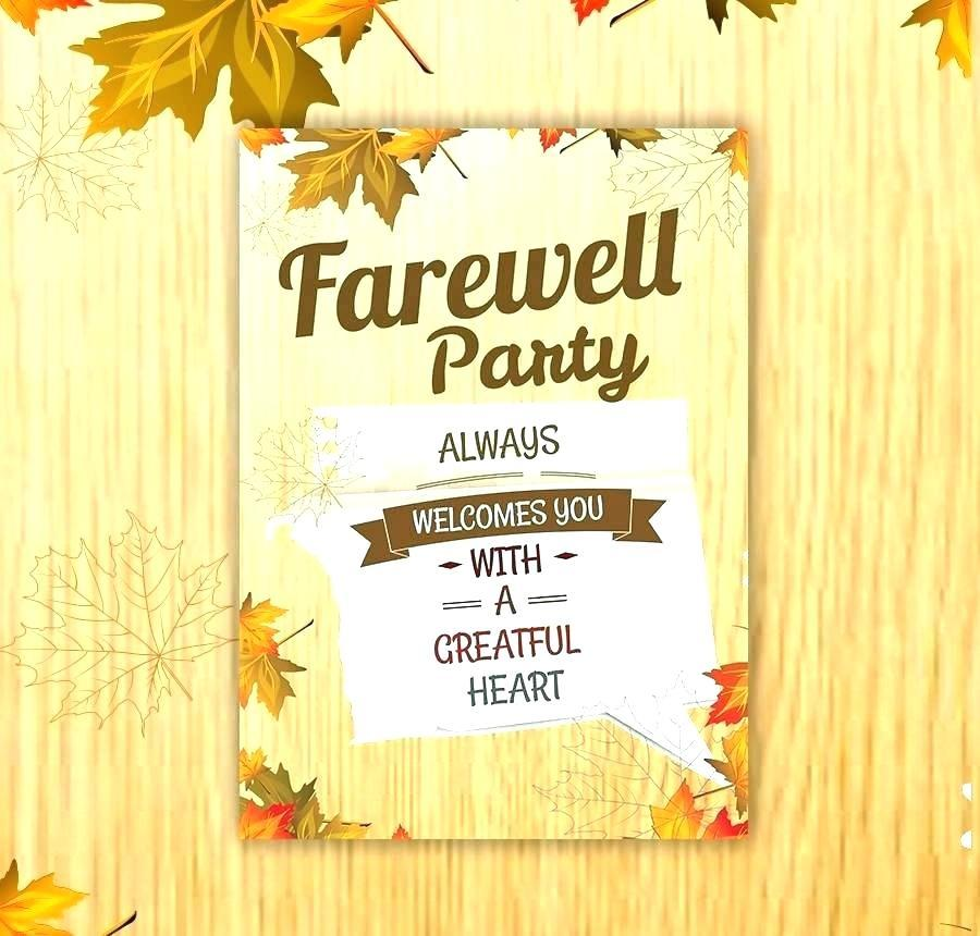Farewell Party Invitation Template Online