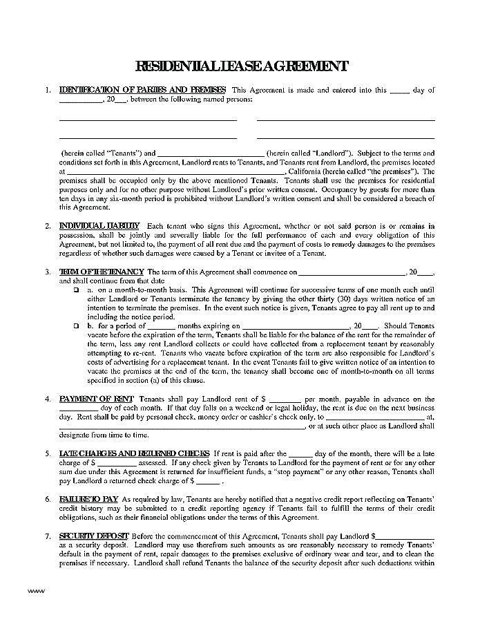 Farm Tenancy Agreement Template