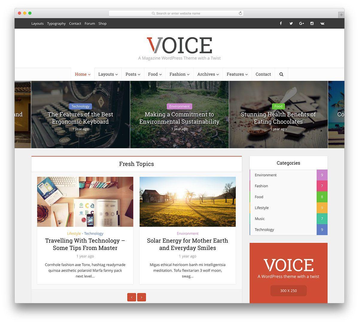 Fashion Magazine Template WordPress