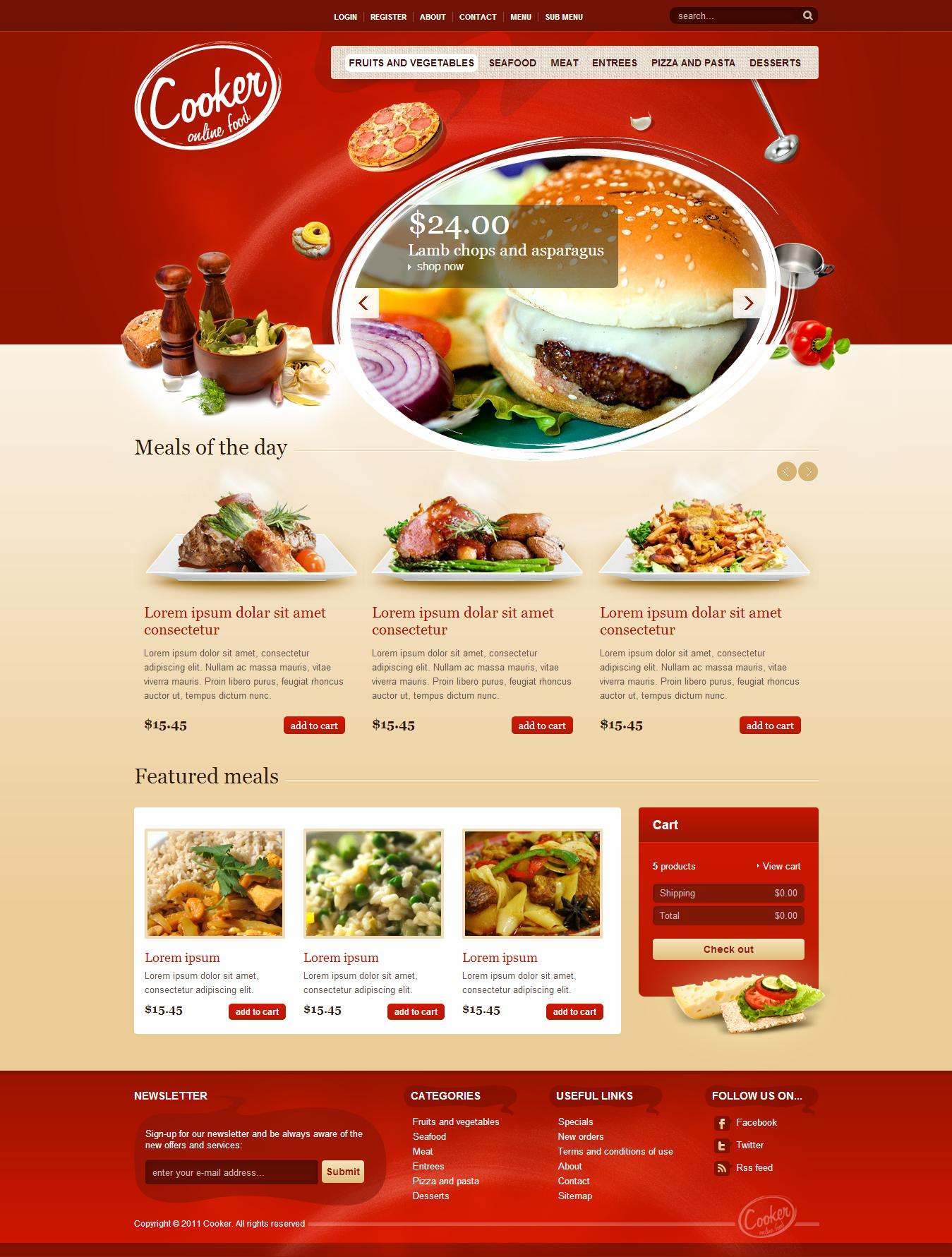 Fast Food Website Templates