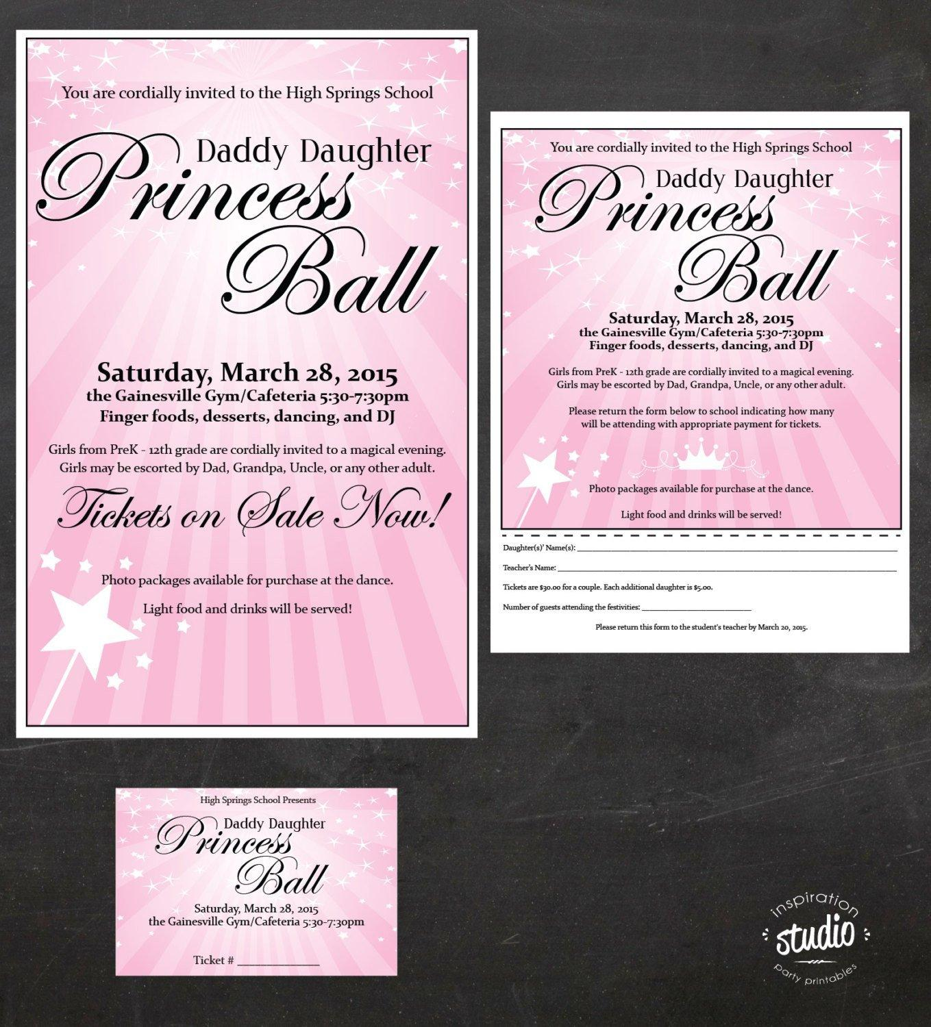 Father Daughter Dance Ticket Template