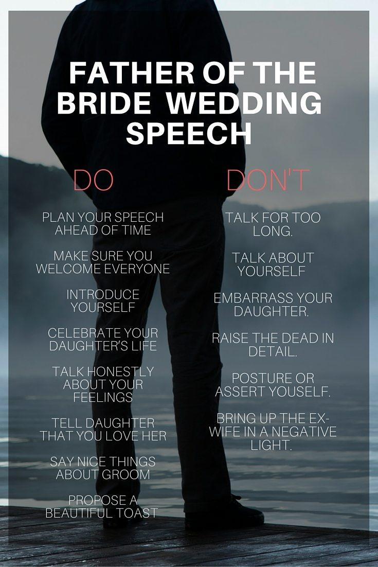 Father Of The Bride Speech Format Uk
