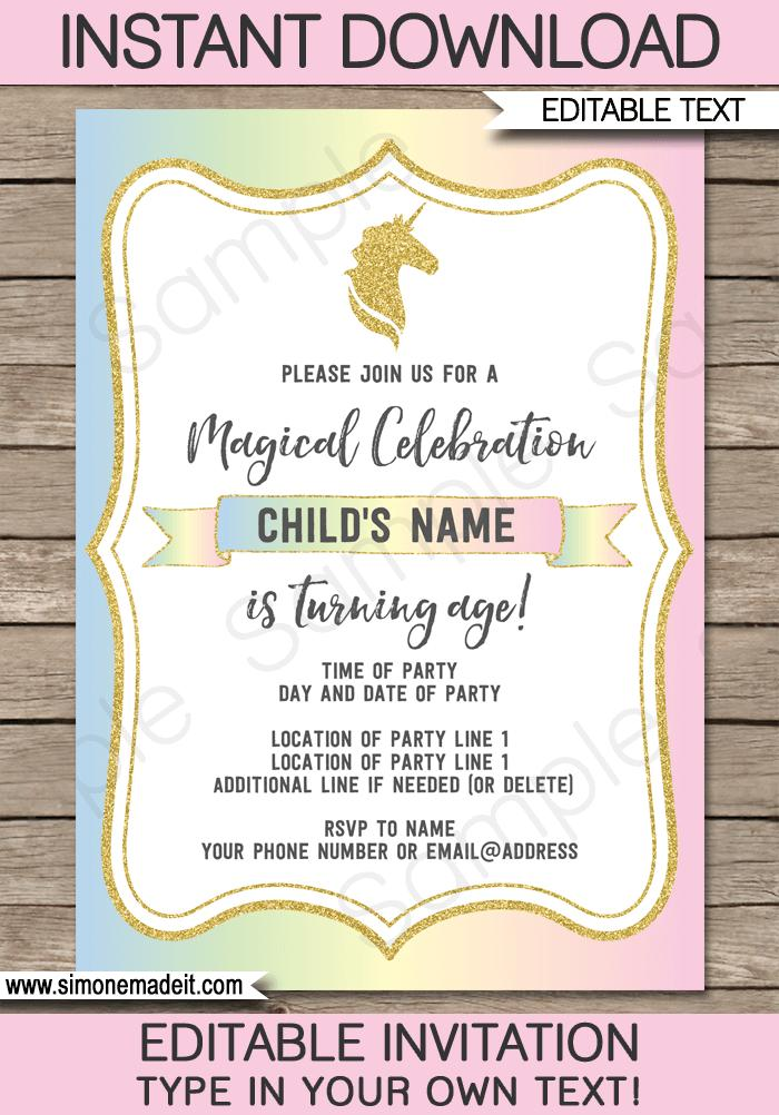 Father's Day Invitation Templates Printable