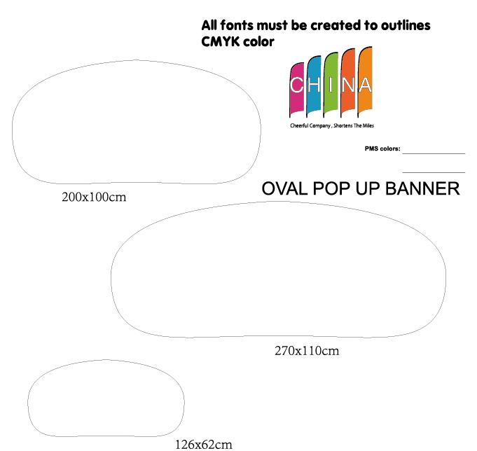 Feather Flag Banner Template